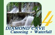 Diamond Cave Canoeing and Waterfall
